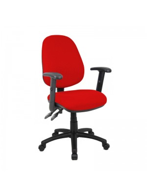 Vantage 100 2 lever PCB operators chair with adjustable arms - red