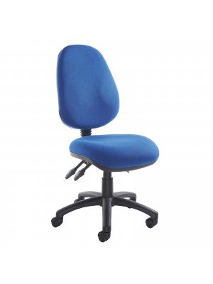 Vantage 200 3 lever asynchro operators chair with no arms - blue
