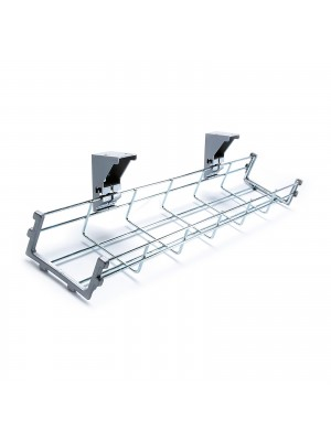 Drop down cable management tray 1000mm long