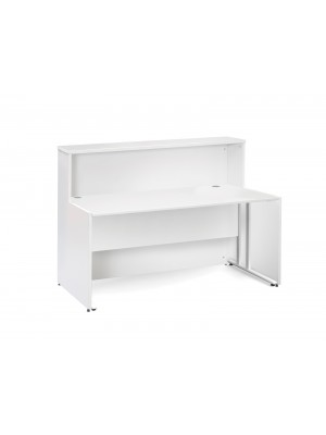 Welcome reception unit with Maestro 25 WL cantilever straight desk 1462mm - white