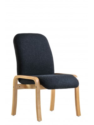 Yealm modular beech wooden frame chair with no arms 540mm wide - charcoal