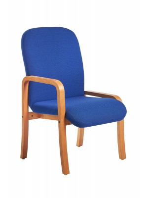 Yealm modular beech wooden frame chair with right hand arm 540mm wide - blue