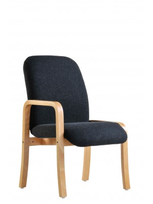 Yealm modular beech wooden frame chair with right hand arm 540mm wide - charcoal