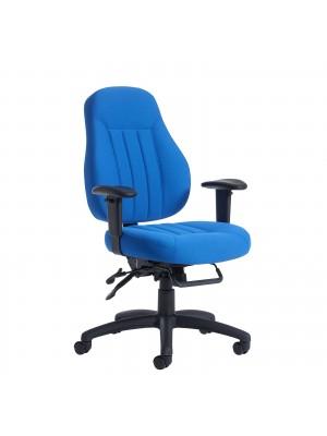 Zeus medium back fabric 24hr task chair - black
